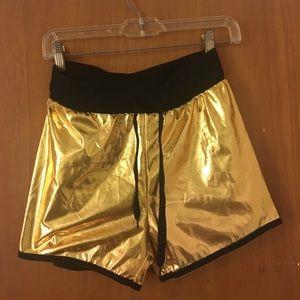 Ragstock Gold Metallic Shorts
